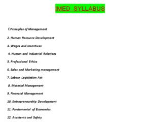 IMED Syllabus in hindi