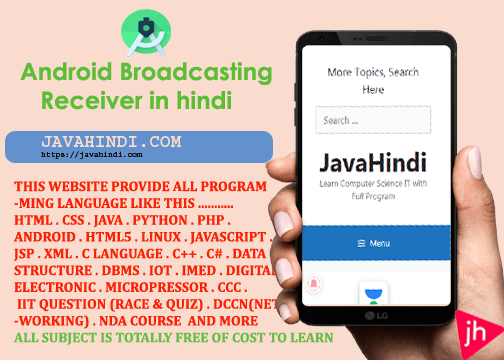 Android Broadcast receivers in hindi