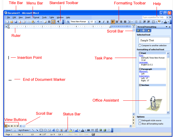 what is formatting toolbar in hindi